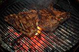 charcoal grilled porterhouse steaks