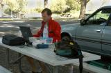 PBase technician at work--- during his vacation!
