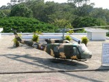 Helicopter on the roof of the old presidential palace