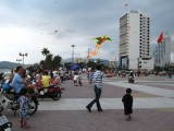 Kite-flying at the boardwalk