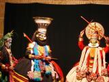 Parvati and Krishna disguised with Arjuna