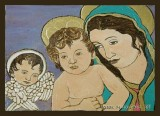 Guardian Angel, Baby Jesus and Mary.