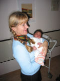 Me with my first great-grandson