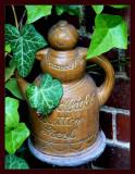 Pot between leaves