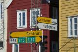 Walking to the Hurtigruten terminal