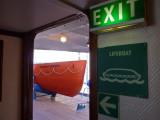 A lifeboat aboard the Nordstjernen