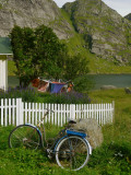 A bicycle in the town of Vindstad - the windy city