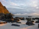 Some rocks at dusk