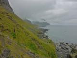 Hiking along the North coast of Vaeroy