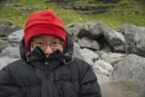 Keepin' warm at Kvalvika