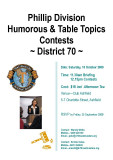 2009 Phillip Division Humorous and Table Topics Contest