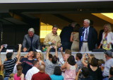 Jimmy Johnson greets the crowd