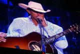 George Strait on the HDTV screen