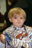 Braxton's First Haircut