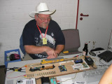 Patrick Bopp manning his DCC booth