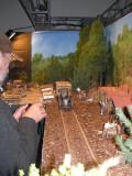 wooden-rail railroad in G-scale
