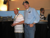 Daniel Roth and myself; he operated Stefan Wagner's modern HO layout