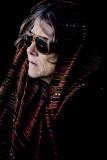 Lady in shawl on ferry