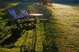 Chairs at dawn
