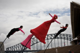 Strange Fruit in air with Opera House