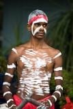 Young aboriginal busker