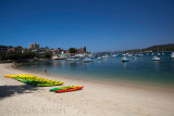 Manly Harbour with kayaks