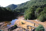 Tailings dumped into King River, Queenstown,Tasmania