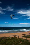 Palm Beach with surf kite