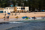 Surfing lesson at Collaroy Beach