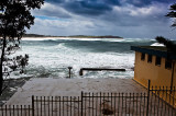 Dee Why surf club with storm