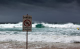 Strong current sign at Manly