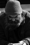 Homeless man with radio