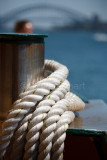 Ropes on ferry on Sydney Harbour