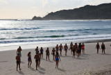 Early morning swimmers at Byron Bay, Australia