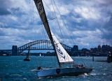 Yacht Loyal sailing on Sydney Harbour