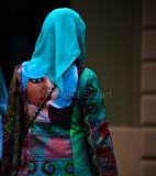 Muslim girl in colourful dress