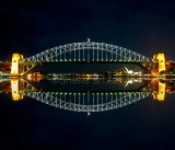Sydney Harbour Bridge night reflection
