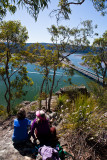 View to Hawkesbury with two people