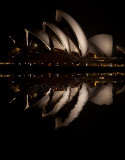Sydney Opera House reflection at night