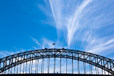 Sydney Harbour Bridge with cirrus clouds