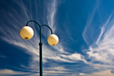 Lamp with cirrus clouds