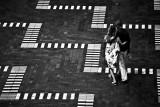 Couple walking across pavers at International Passenger Terminal