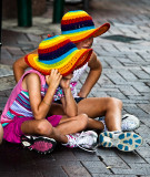 Two little girls at Quay