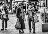 Couple at Quay in monochrome