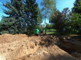 footing dug, starting to level