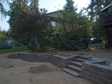 almost finished retaining wall