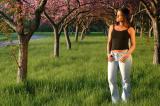 Brandi Amidst the Apple Blossoms