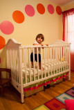 Ava Rae in her crib