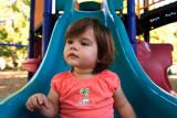 Ava at the playground