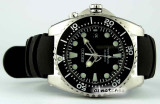 SEIKO KINETIC SCUBA DIVER 200M SKA371 SKA371P2 BLACK RUBBER